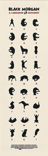 From Sea Dog Press. A black lab alphabet.