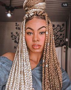 Burgundy Box Braids, Black Box Braids, Colored Box Braids, Big Box Braids, Blonde Box Braids, Braids With Curls, Box Braids Styling, Black Girl Braids, Girls Braids