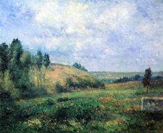 Landscape, near Pontoise.1880 by Camille Pissarro