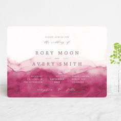 Wedding Mood Board, Home Wedding, Dream Wedding, Wedding Day, Watercolor Wave, Photo Layouts, Reception Card, Watercolor Wedding Invitations, Invitation Design