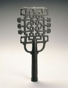 Brooklyn Museum: Arts of Africa: Processional Cross, 13th or 14th century, Ethiopia, Amhara culture.