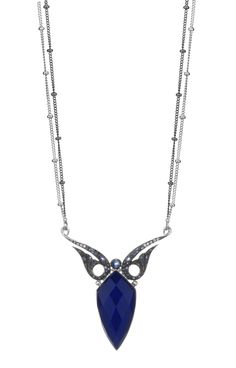 Stephen Webster 18-carat White Gold Jewels Verne Shrimp Pendant with Lapis Crystal Haze and Black and White Diamonds.