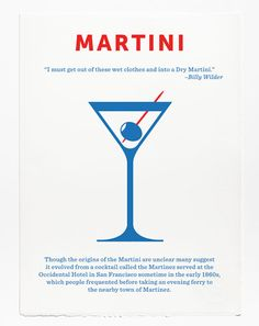 Love these - Minimalist Screen Printed Posters of Classic Cocktails