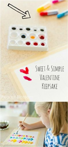Sweet & Simple Valentine Keepsake   Peanut Blossom: A sentimental art project for kids to make with mom that is living room worthy!
