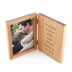 Engraved Book Photo Frame