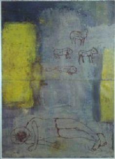 Anna Seppälä, Unilaidun, 140 x 90, Monotype on paper / The winner of 2002