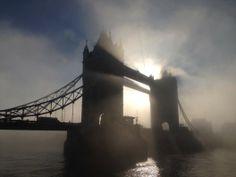 London enveloped in fog.