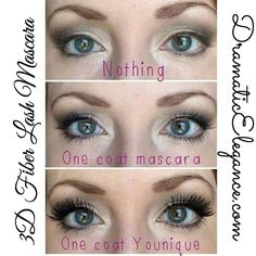3D Fiber lash Mascara!  Easy to apply with visible results!  Only $29!!  #3Dmascara #makeup #longerlashes #easymakeup #simplemakeup www.dramaticelegance.com