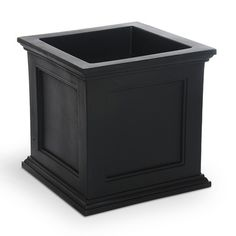 "Mayne Inc. Fairfield Square Planter Box Size: 20"" H x 20"" W x 20"" D, Color: Espresso"