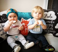 It's a toddler twin life.... WARNING LABELS WILL BE REQUIRED ⚠️. Shop link in Bio! #hazardbabyclothing #onesies #toddlerlife #rompers #twinlife #momlife #momoftwins #dadlife #fatherhood #funnybabyonesies #boys #babygirls #babiesofig #trendykiddies #coolkidsclothes #funnybabyclothes #constructionlife #safetysigns #funnyhazardwarnings #etsykidsteam #newparents #dontforgetdads
