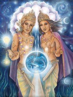Tarot Aura Soma - 61 - Sanat and Venus Kumara San Rafael, Ascended Masters, Major Arcana, Visionary Art, Oracle Cards, Sacred Art, Tarot Decks, Tarot Cards, Spirit Animal