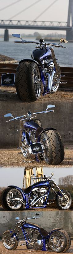 """Blue Flame"" by Thunderbike Customs - Harley-Davidson Screamin Eagle engine powered custombike"