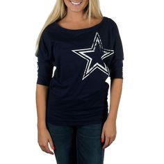 Dallas Cowboys Dahlia Dolman Top | Short Sleeve | Tops | Womens | Cowboys Catalog | ShopCowboys