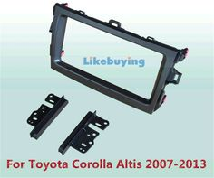 (53.00$)  Buy here  - 2 Din Car Frame Dash Kit / Car Fascias / Mount Bracket Kit For Toyota Corolla Altis 2007 2008 2009 2010 2011 2012 2013