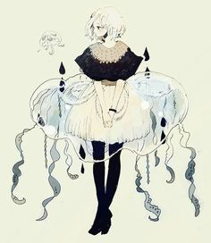 cute, anime, and girl image Jellyfish Drawing, Jellyfish Painting, Jellyfish Facts, Jellyfish Quotes, Jellyfish Tank, Jellyfish Aquarium, Jellyfish Tattoo, Watercolor Jellyfish, Jellyfish Light