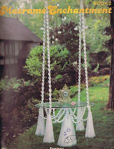 Vintage Macrame Patterns 70s Tables Hanging Planters Novelty Bird Cage Fountains | eBay
