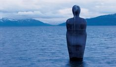 "Antony Gormley [UK] (b 1950) ~ ""HAVMANN"", 1994. Granite (10.1 x 3 x 1.90 m). Permanent installation, Mo i Rana, Norway. 