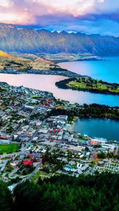 Queenstown From The Air iPhone Wallpapers Places Around The World, The Places Youll Go, Great Places, Places To See, Around The Worlds, The Beautiful Country, Beautiful Places, Queenstown New Zealand, World Geography