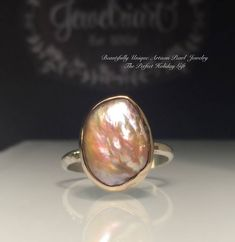 A personal favorite from my Etsy shop https://www.etsy.com/listing/519879659/pearl-ringsolitare-pearl-ringraw-organic