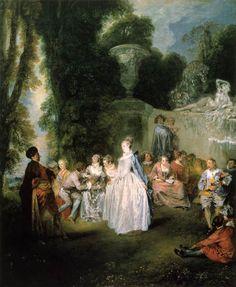 Jean-Antoine Watteau - Venetian feast