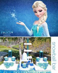 Frozen Party Ideas Week - Snowball Bar!