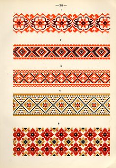 Free Clip Art and Digital Collage Sheet - Belarusian ethnic embroidery Palestinian Embroidery, Hungarian Embroidery, Folk Embroidery, Chain Stitch Embroidery, Embroidery Stitches, Embroidery Patterns, Cross Stitch Borders, Cross Stitch Designs, Cross Stitch Patterns