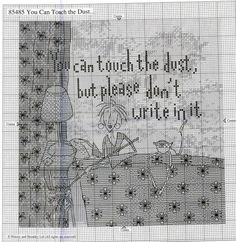 0 point de croix you can touch the dust, but please dont write in it - cross stitch part 2