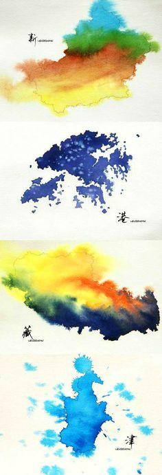 水彩中的惊艳中国,美呆了!