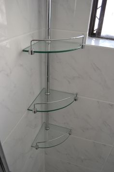 3 Tier Corner Shelf - Bathroom - Renovation - Perth - On the Ball Bathroom
