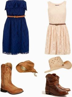 I love the dress/boots/jean jacket/cowgirl hat/look!!!; )It's so me!!!