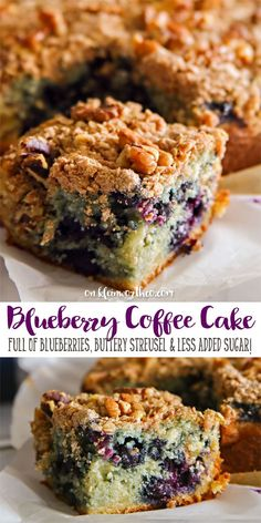 Blueberry Coffee Cake is a delicious breakfast recipe. Loaded with fresh blueberries & a buttery streusel topping. Made with SPLENDA & less added sugar. AD