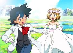 Pokémon amourshipping ash and Serena wedding