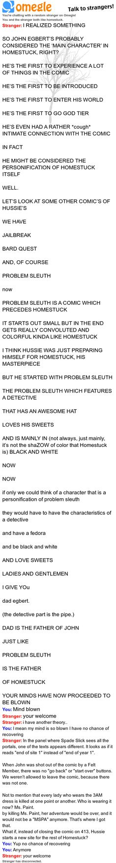 Not a Homestuck fan bun I know enough to consider this mindblowing (the secondhand fandom disease, courtesy of Pinterest).