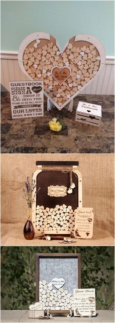 Wedding guest book-guest book alternative-unique guest book-heart drop box-wedding shadowbox-wedding frame-personalized guest book