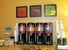Our free 24 hour coffee & gourmet tea bar. #coffee #tea #hamptoninnuniversitycenter