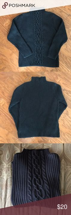 🦋SALE Talbots Black Cable Sweater Warm/Comfy Talbots Black Cable Sweater. Size Medium. 100% Cotton. Great Used Condition. Talbots Sweaters