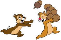 Disney Chip and Dale Clip Art Images Disney Love, Disney Mickey, Disney Art, Mickey Mouse, Chip Und Dale, Disney Cookies, Little Brothers, Disney Images, Mickey And Friends