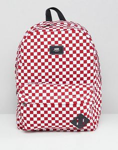 Vans Red Checkerboard Backpack 636b8e3e53960