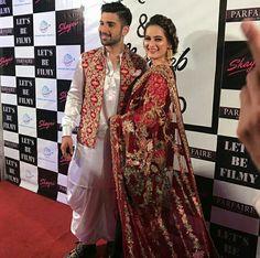 Let's be filmy. Pakistani Bridal Makeup, Pakistani Bridal Dresses, Aimen Khan, Latest Bridal Dresses, Pre Wedding Party, Wedding Ideas, Oriental Fashion, Oriental Style, Pakistani Actress