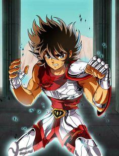Pegasus Seiya - Saint Seiya by FernanDohko on DeviantArt Manga Art, Manga Anime, Anime Art, Anime Fantasy, Anime Comics, Cameleon Art, Knights Of The Zodiac, D Mark, Manga Games