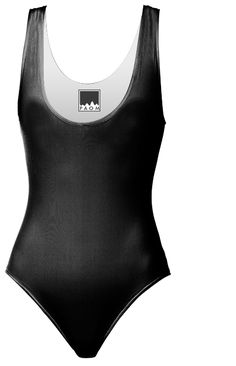 Simply Black One Piece Swimsuit designed by Christy Leigh | Print All Over Me