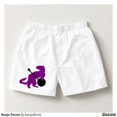 Banjo Ferret Boxers - Dashing Cotton Underwear And Sleepwear By Talented Fashion And Graphic Designers - #underwear #boxershorts #boxers #mensfashion #apparel #shopping #bargain #sale #outfit #stylish #cool #graphicdesign #trendy #fashion #design #fashiondesign #designer #fashiondesigner #style