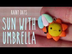 Kawaii Sun With Umbrella Polymer Clay Charm Tutorial