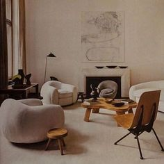 At home with...curves, cream, and wood. #Berlin #emmanueldebayser #athomewith #theline