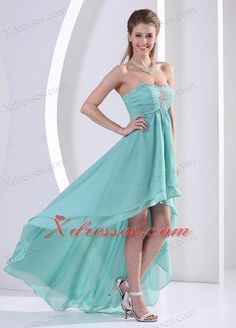 high low prom dresses are a big style this year, and this green