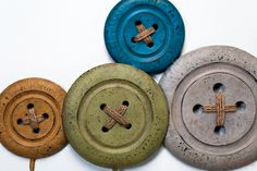 Frisbees or wooden disks - perfect for the sewing room