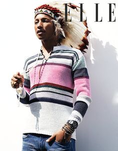 Pharrell Wears A Headdress For A Photo, Clap Along If You Feel Like He Didn't Think This Through