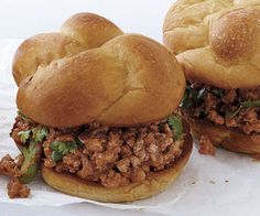Turkey Sloppy Joes with Hoisin and Cilantro