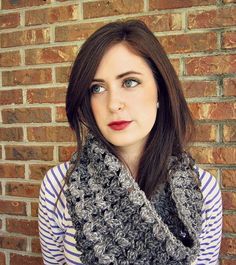 puffy v knit cowl in tweed by PTTM on Etsy, $30.00