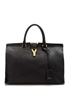 Classic Leather Large Y Cabas Tote  from Saint Laurent Handbags & Shoes on Gilt